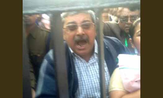 TMC lawmaker, Protest, Modi's residence