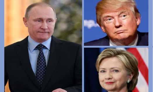Vladimir Putin, Barack Obama, Donald Trump, Hillari Clinton, DC Hack