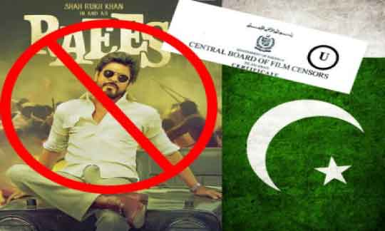 Raees, Pakistan, Shah Rukh Khan